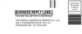 Handpiece Repair Mailing Label